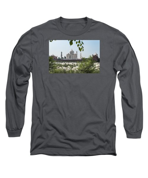 The Calm Behind The Taj Mahal Long Sleeve T-Shirt