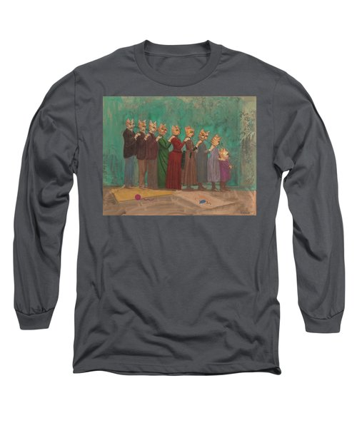 The Cat Family Portrait 1891  Long Sleeve T-Shirt