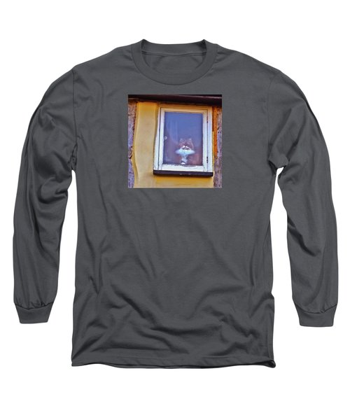 The Cat In The Window Long Sleeve T-Shirt by Anne Kotan