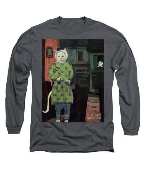 The Cat's Pajamas Long Sleeve T-Shirt by Alexis Rotella