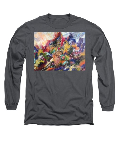Long Sleeve T-Shirt featuring the painting The Chair  by Lori Lovetere