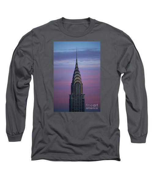 The Chrysler Building At Dusk Long Sleeve T-Shirt by Diane Diederich