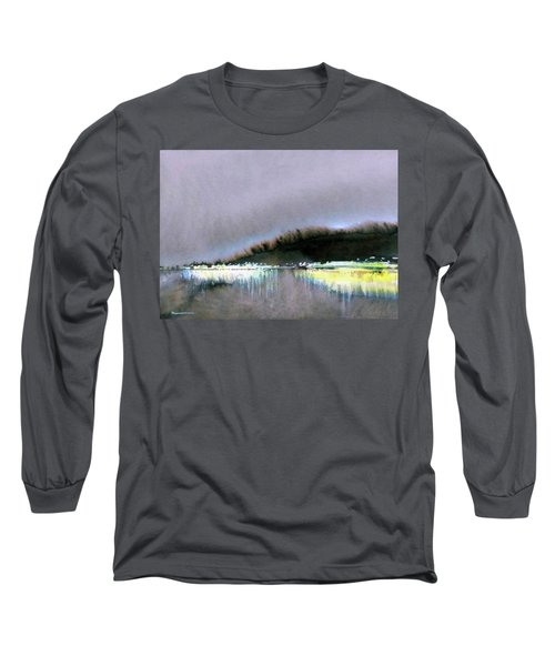 Long Sleeve T-Shirt featuring the painting The City Lights by Ed Heaton