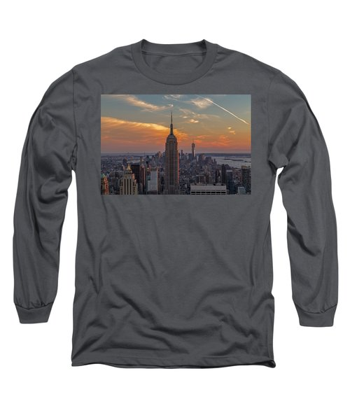 Long Sleeve T-Shirt featuring the photograph The City That Never Sleeps  by Anthony Fields