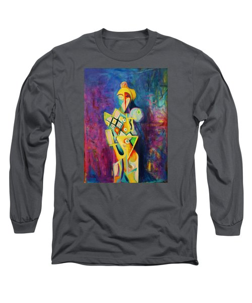 The Clown Long Sleeve T-Shirt by Kim Gauge