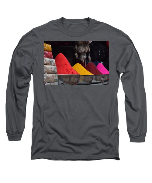 The Colours Of Holi Long Sleeve T-Shirt by Mini Arora