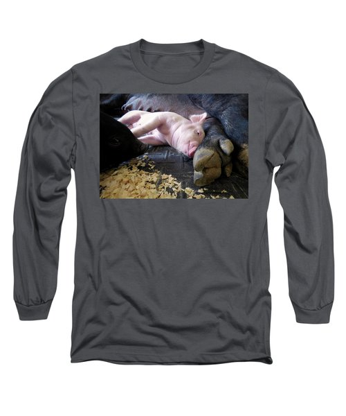 Long Sleeve T-Shirt featuring the photograph The Comfort Of Mom by Robert Geary