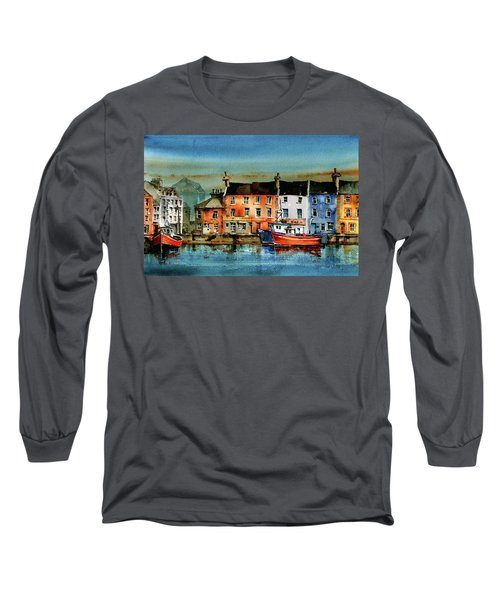 The Commercial Docks, Galway Citie Long Sleeve T-Shirt