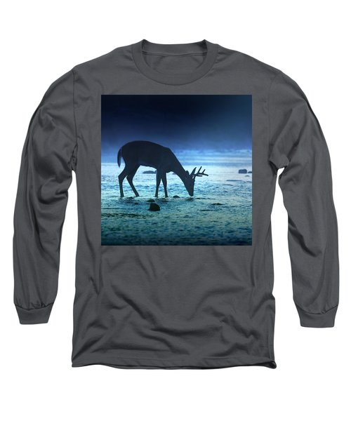 The Cool Of The Night - Square Long Sleeve T-Shirt by Rob Blair