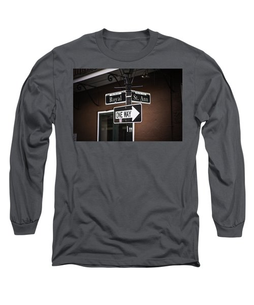 The Corner Of Royal And St. Ann, New Orleans, Louisiana Long Sleeve T-Shirt