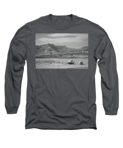 the couple of stones in the desert II Long Sleeve T-Shirt by Yoel Koskas