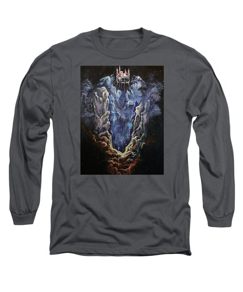 Long Sleeve T-Shirt featuring the painting The Crown by Cheryl Pettigrew