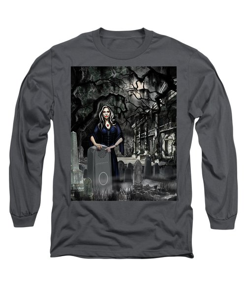 Long Sleeve T-Shirt featuring the painting The Curse Of Johnson Bayou by James Christopher Hill
