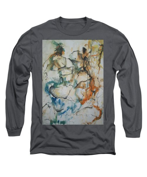 Long Sleeve T-Shirt featuring the painting The Dance by Raymond Doward