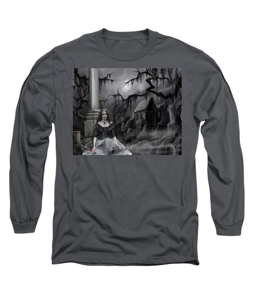 Long Sleeve T-Shirt featuring the painting The Dark Caster Awaits by James Christopher Hill