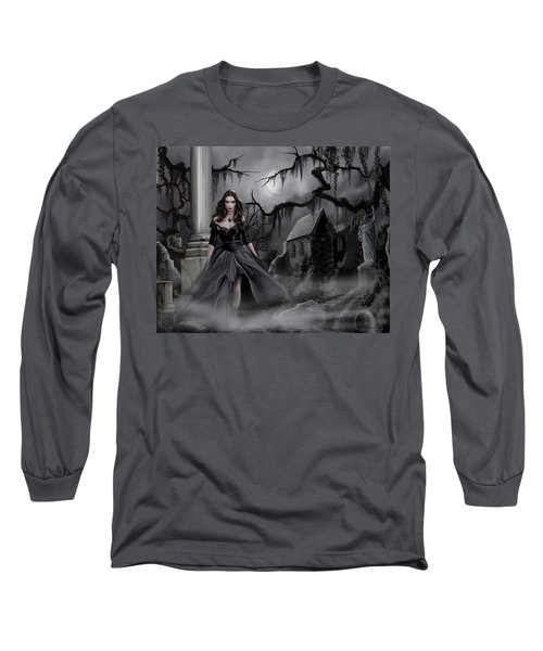 Long Sleeve T-Shirt featuring the painting The Dark Caster Comes by James Christopher Hill