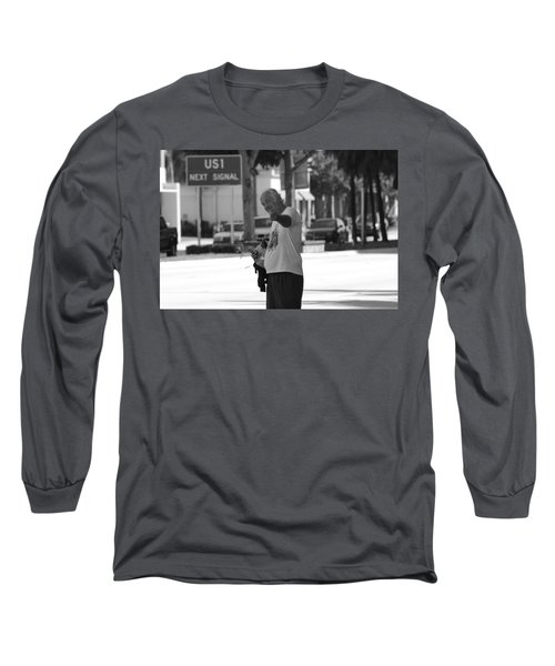 Long Sleeve T-Shirt featuring the photograph The Devil Man by Rob Hans