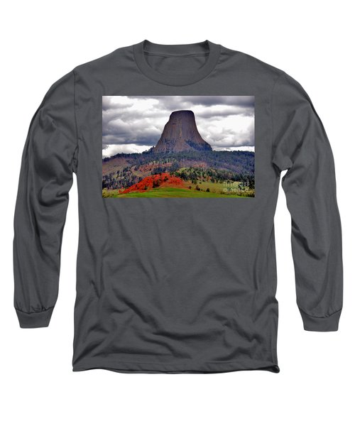 The Devils Tower Wy Long Sleeve T-Shirt