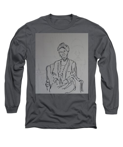 The Dowager Countess In Her Drawing Room At Dowton Abbey Long Sleeve T-Shirt
