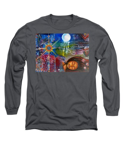 Long Sleeve T-Shirt featuring the painting The Dreamer by Prerna Poojara