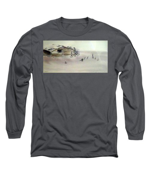 Long Sleeve T-Shirt featuring the painting The Dustbowl by Ed Heaton