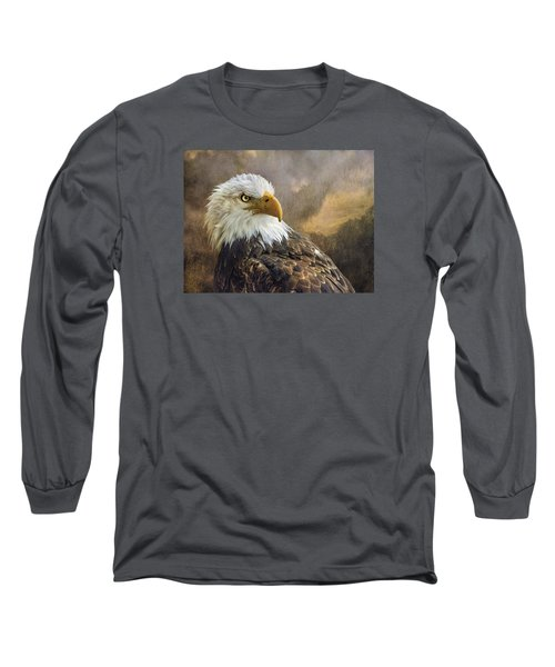 The Eagle's Stare Long Sleeve T-Shirt by Brian Tarr