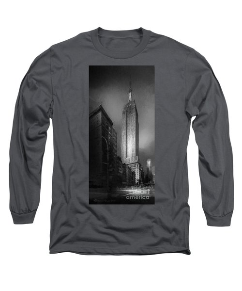 Long Sleeve T-Shirt featuring the photograph The Empire State Ch by Marvin Spates