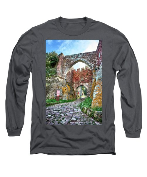 The Entrance To The Monastery Of Escornalbou Long Sleeve T-Shirt