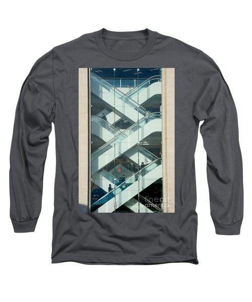 The Escalators Long Sleeve T-Shirt by Colin Rayner