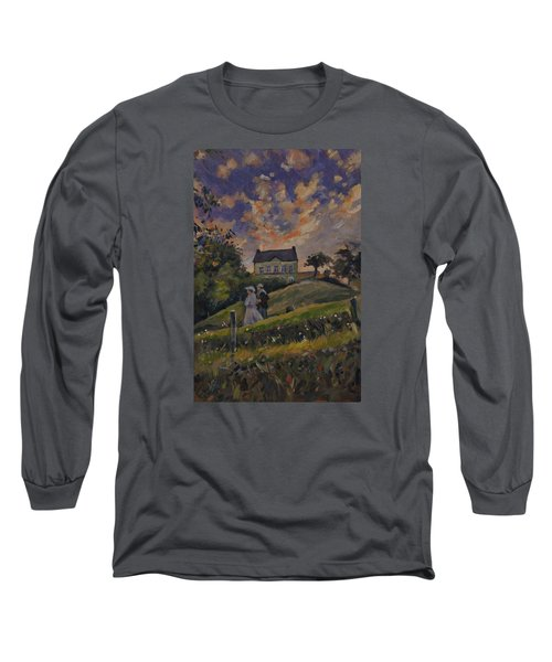 The Evening Stroll Around The Hoeve Zonneberg Long Sleeve T-Shirt by Nop Briex