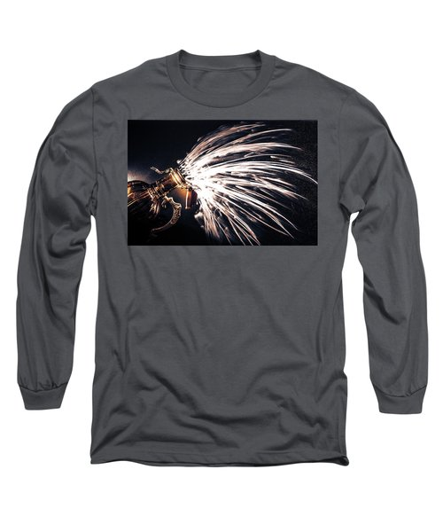 The Exploding Growler Long Sleeve T-Shirt by David Sutton