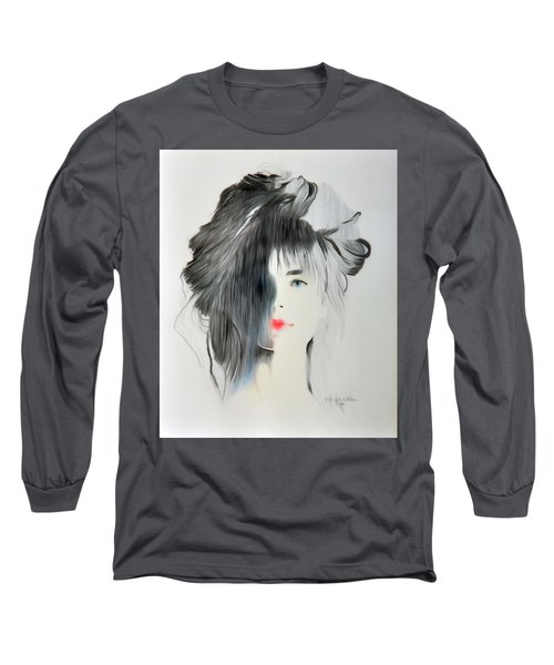 The Face - Digitalart Long Sleeve T-Shirt