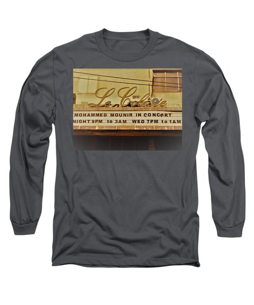The Famous Le Colisee Cinema In Beirut Long Sleeve T-Shirt