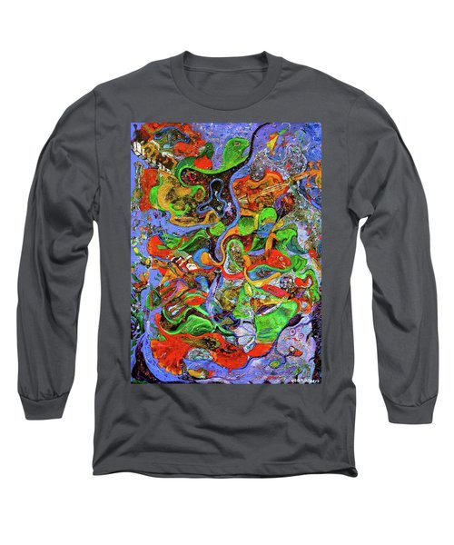 The Fiddle Player Long Sleeve T-Shirt by Lee Ransaw