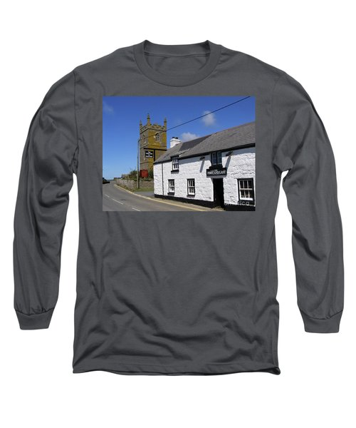 Long Sleeve T-Shirt featuring the photograph The First And Last Inn In England by Terri Waters