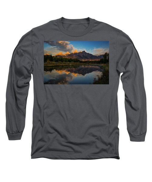 The First Light Long Sleeve T-Shirt by Edgars Erglis