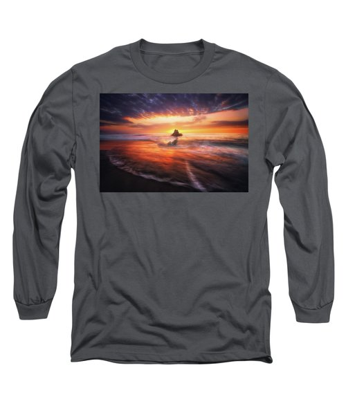 The Flaming Rock Long Sleeve T-Shirt