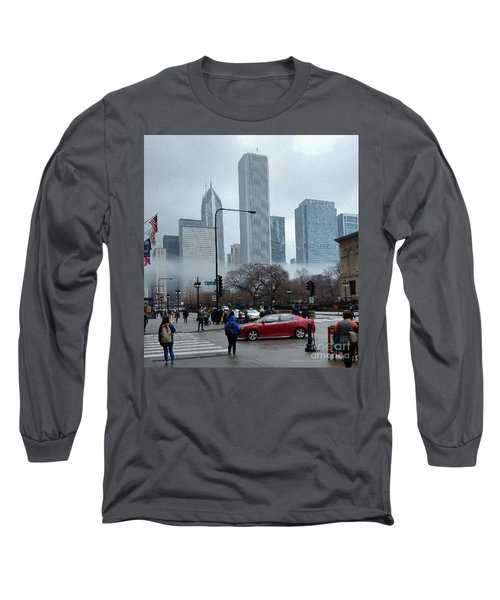 The Fog Lifts On Michigan Avenue Long Sleeve T-Shirt
