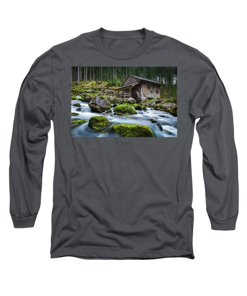 The Forgotten Mill Long Sleeve T-Shirt by JR Photography