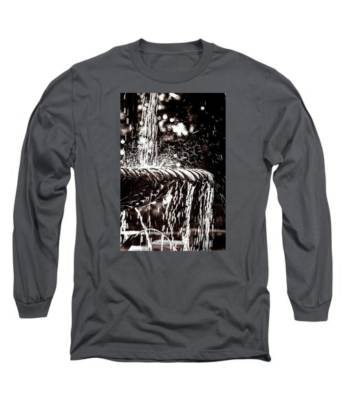 Long Sleeve T-Shirt featuring the photograph The Fountain by Wade Brooks