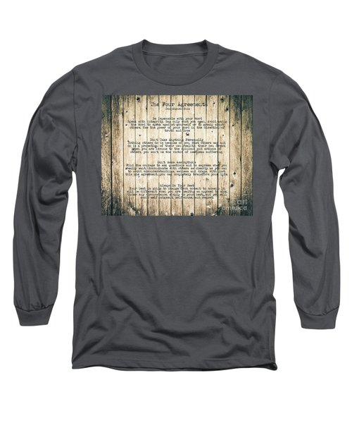 The Four Agreements 8 Long Sleeve T-Shirt by Andrea Anderegg