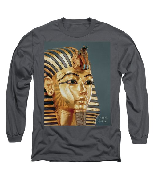 The Funerary Mask Of Tutankhamun Long Sleeve T-Shirt