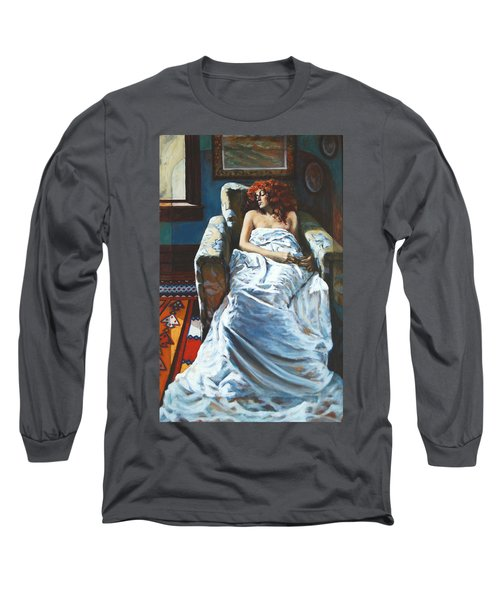 The Girl In The Chair Long Sleeve T-Shirt by Rick Nederlof