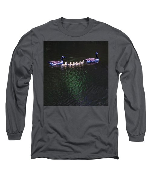 The Goslings On The River Long Sleeve T-Shirt