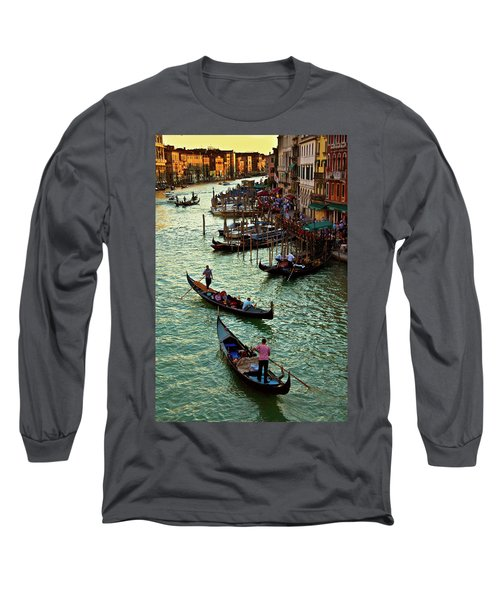 Long Sleeve T-Shirt featuring the photograph The Grand Canal Venice by Harry Spitz