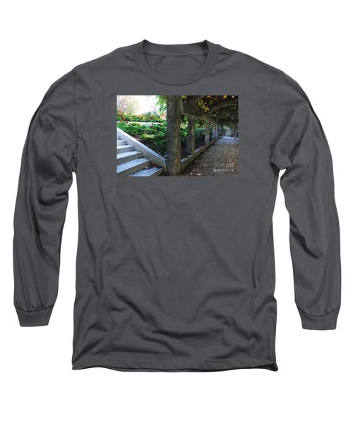 The Grape Arbor Path Long Sleeve T-Shirt by David Blank