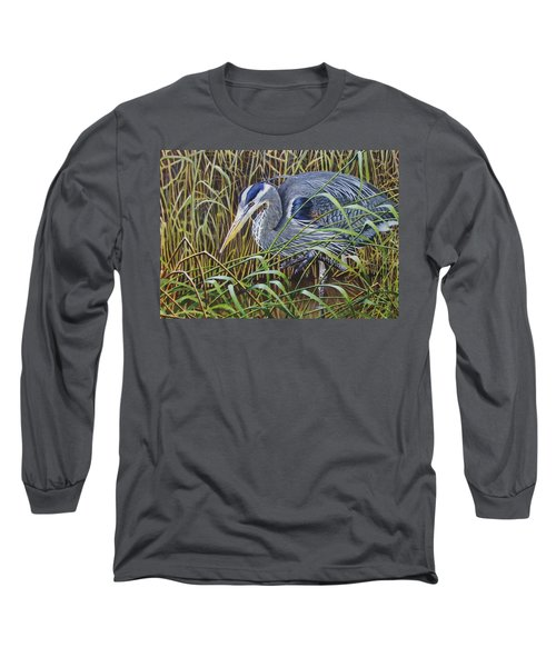 The Great Blue Heron Long Sleeve T-Shirt