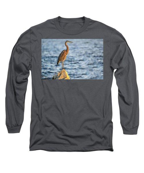 The Great Blue Heron Long Sleeve T-Shirt