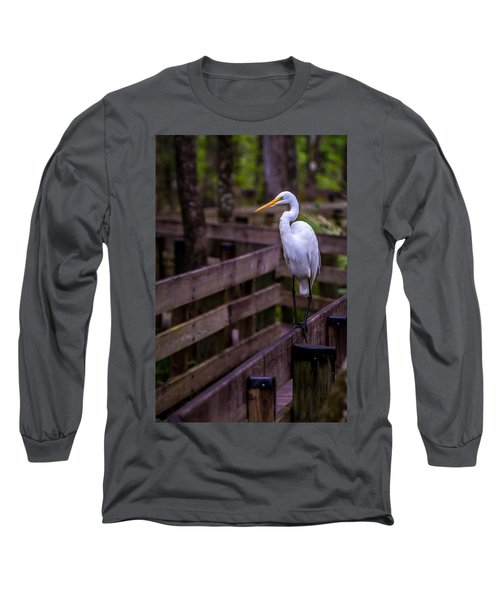 The Great Egret Long Sleeve T-Shirt