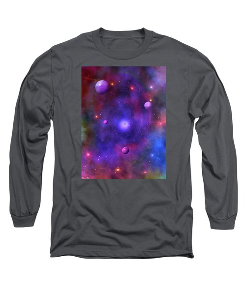 Long Sleeve T-Shirt featuring the digital art The Great Unknown by Bernd Hau